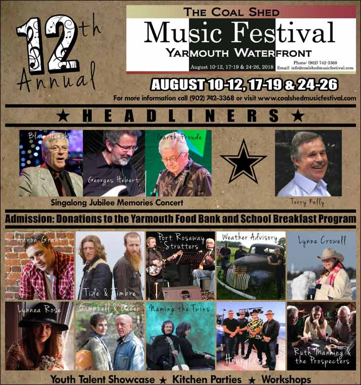 12th Annual Coal Shed Music Festival 2018 fundraiser